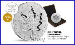 2021 Canada 1 Kilogram Pure Silver Coin Super Incuse Silver Maple Leaf