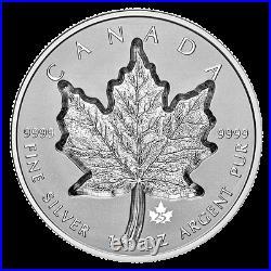 2021 Canada 1 oz. Pure Silver Coin Super Incuse Silver Maple Leaf