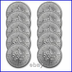 2021 Canada 1 oz Silver Maple Leaf BU Lot of 10