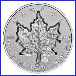 2021 Canada 1 oz Silver Maple Leaf Super Incuse SML Reverse Proof $20 Coin OGP