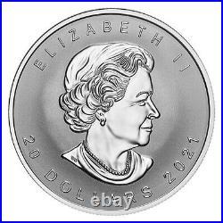 2021 Canada $20.9999 1 Oz Super Incuse Silver Maple Coin Rare Mintage 6,000