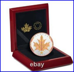 2021 Canada $50 Maple Leaves in motion maple leaf gold plated silver in stock
