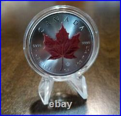 2021 Canada Maple Leaf Series 2 Set of 4 x 1 Ounce Silver Colorized Series