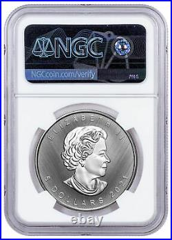 2021 W Canada 1 oz Silver Maple Leaf Tailored Specimen $5 NGC SP70 FR Excl