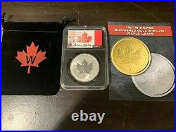 2021-W NGC SP70 FDOI Canada Tailored Specimen Maple Leaf Taylor Signed 1oz