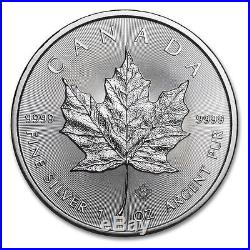 25 COIN ROLL 2015 1 OUNCE SILVER CANADIAN MAPLE LEAF COINS. 9999 1oz