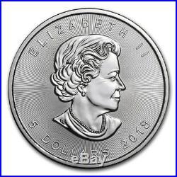 25 COIN ROLL 2018 1 OUNCE SILVER CANADIAN MAPLE LEAF COINS. 9999 1oz