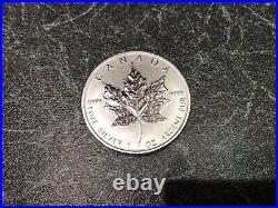 25 X 1oz 2011.9999 Silver Maple Leaf Coins In Canadian Mint Bullion Tube