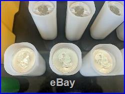 25 x 1 oz. 9999 Silver Canadian Maple Silver Bullion Coins Gold Bars FULL TUBE
