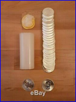 25 x 2015 1oz Canadian Maple Silver Bullion Coins