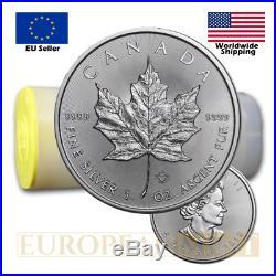 25 x 2020 1oz $5 CAD Canadian Silver Maple Leaf (tube)