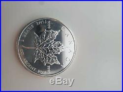 5 x 1 Oz Ounces Canada Silver maple bullion Coins 1oz Year 2011