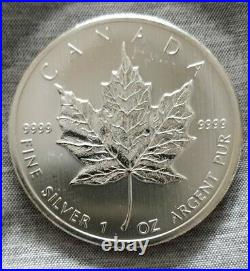 5 x 1oz 2012 SILVER CANADIAN MAPLE LEAF COINS