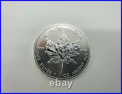 5 x 1oz Silver Canadian Maple Leaf Bullion Coin (Various Years) Mint Condition