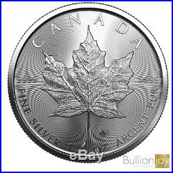 5 x 2020 1oz Canadian Maple Leaf Silver coin New in protective Capsule