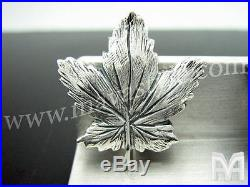 925 Sterling Silver Canadian Maple Leaf Cufflinks Cuff Links Jewelry Jewellery