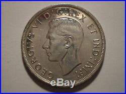9SAH2 Canada George VI 1947 Maple Leaf silver dollar. Key date. Very scarce