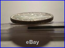 9SAH2 Canada George VI 1947 Maple Leaf silver dollar. Key date. Very scarce