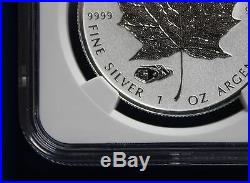 CANADA 2016 $5 Reverse Proof Silver Maple Leaf with Mark V Tank Privy NGC PF70