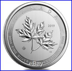 CANADA 50 Dollars Argent 10 Onces Maple Leaf 2019