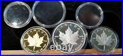 Canada 1989 1 oz Maple Leaf Set Gold/Silver/Platinum 99.99% & 99.95%
