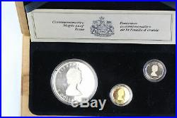 Canada 1989 Commerative Maple Leaf Issue Set Gold, Silver, Platinum coins