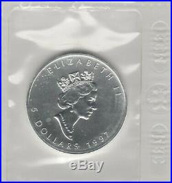 Canada 1995,1996 & 1997 Silver Maple Leaf's Rarest And Lowest Mintage Years