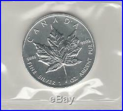 Canada 1996 & 1997 Silver Maple Leaf's Rarest And Lowest Mintage Years