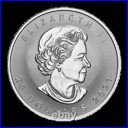 Canada $20 Dollars Super Incuse Silver Maple Leaf Coin in High Depth, 2021