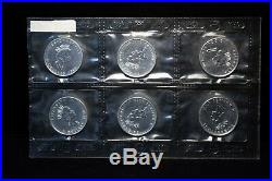 Canada 2000 $5.9999 Silver Maple Fireworks Privy 6 Coins in Original Packaging