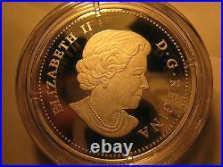 Canada 2011 $20 Silver Coin Maple Leaf Crystal Raindrop Rare