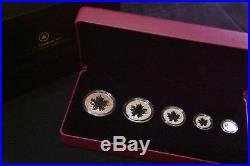 Canada 2013 25th Anniversary of the Maple Leaf Fine Silver Fractional Set