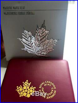 Canada 2014 10 oz. Pure Silver Coin $100 Majestic Maple Leaf RCM