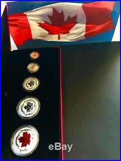 Canada 2015, Fine Silver Maple Leaf Fractional Set 5 Coins Royal Canadian Mint