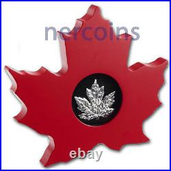 Canada 2015 Maple Leaf Shaped $20 1 Oz Pure Silver Proof Coin Perfect Sold Out