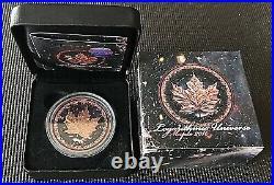 Canada 2016 Logarithmic Universe 1oz Silver Maple BU. 9999 Rose Gold Gilded