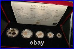 Canada 2016 SILVER Proof Set $5, $4, $3, $2, $1.999 Fine Maple Leaf (MD)
