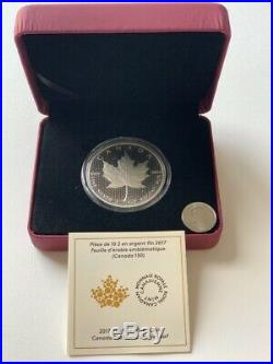 Canada 2017 2OZ Iconic Maple Leaf 150th Birthday $10 Pure Silver Coin RCM