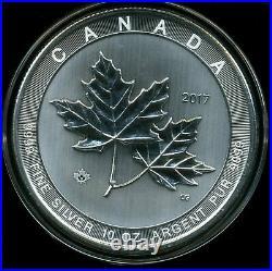 Canada 2017 $50 Brilliant Uncirculated 10 oz. 999 Silver Maple Leaf in Capsule