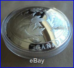 Canada 2017 5oz fine silver $50 dome-shaped coin Maple leaves in motion