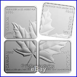 Canada 2017 Silver Maple Leaf Quartet 4 Coin Square SML Puzzle Set $3 Proof