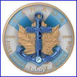 Canada 2019 5$ Maple Leaf Anchor 1 Oz Silver Coin