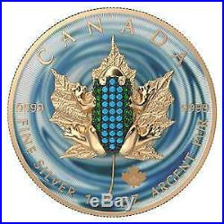 Canada 2019 5$ Maple Leaf Bejeweled FROG 1 oz Silver Coin 500 pcs only PRESALE
