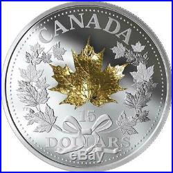 Canada 2019 Masters Club Exclusive Golden Maple Leaf $15 Pure Silver Coin