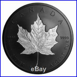 Canada 2020 3 oz. Pure Silver Coin Rhodium-Plated Incuse Silver Maple Leaf