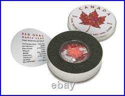 Canada 2020 5$ Maple Leaf Metallic & RED Opal 1 Oz Silver Coin