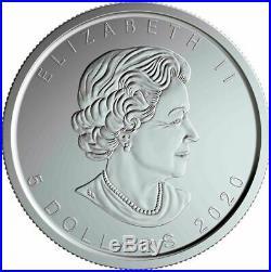 Canada 2020 W Mint Mark Burnished Finish Silver Maple Leaf Winnipeg 2020-W