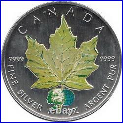 Canada 4 x 5$ 2002 Maple Leaf Four Seasons Coins Set, Total 4 Oz Silver