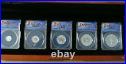 Canada Maple Leaf. 9999 Silver Fractional 5pc. Set Pulsating 2021 25th Anniv