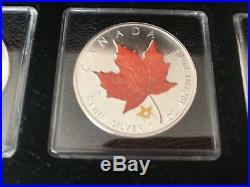 Canada Maple Leaf Coloured 1oz Silver 2007-2010 Series